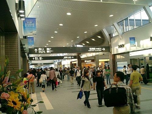 岡山駅東西開通の図