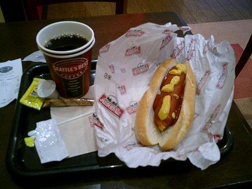 SBCホットドッグ&コーヒー【SEATTLE'S BEST COFFEE@岡山市駅元町】